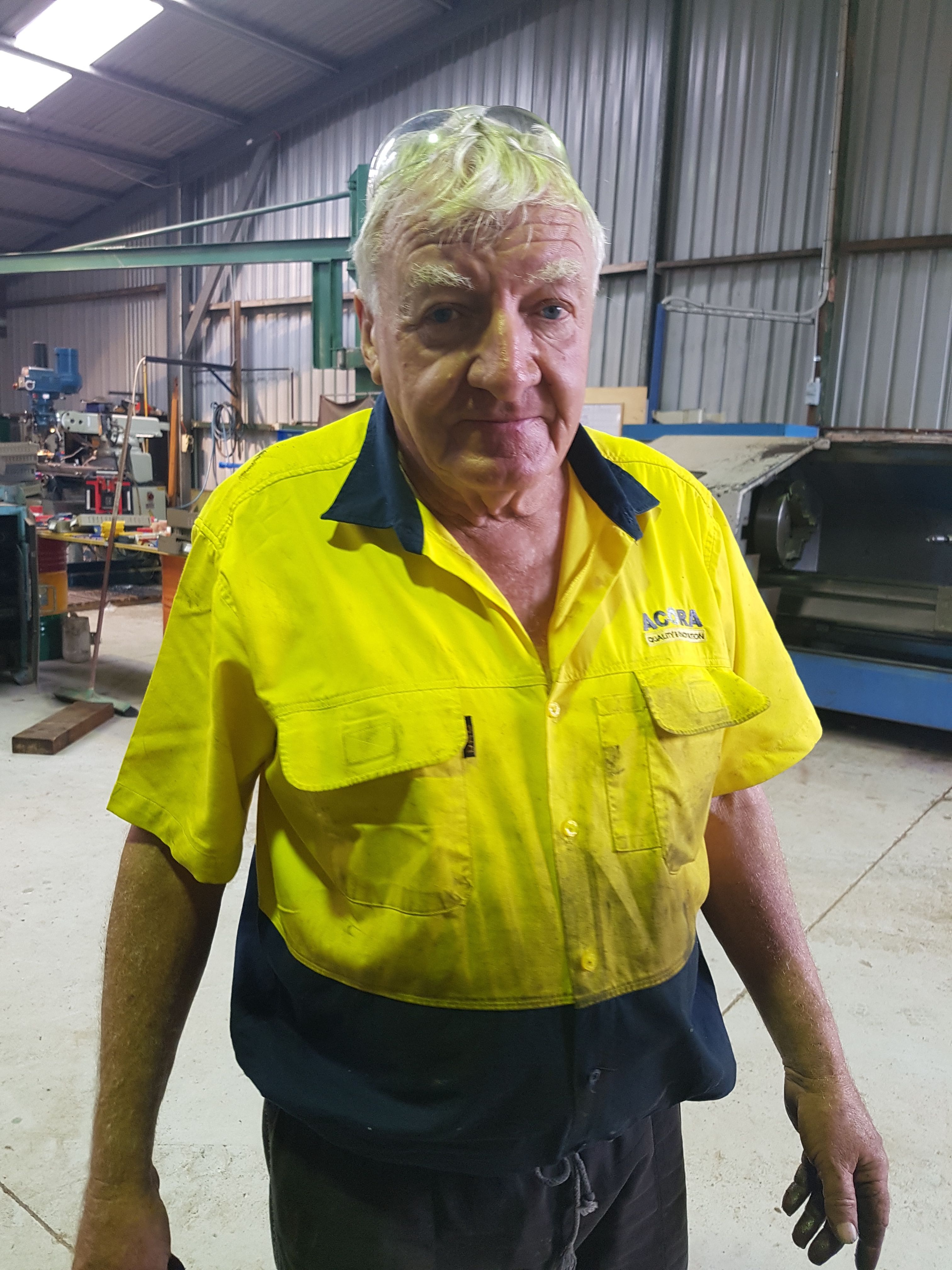 Ian is our Senior Fitter & Machinist who is retiring this month at age 72!
